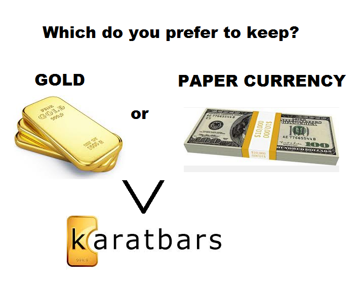 gold or paper currency